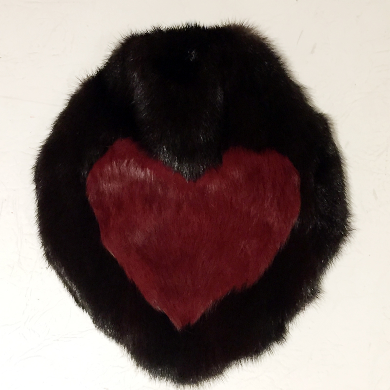 Hot Water Bottle - mahogany mink with rabbit heart
